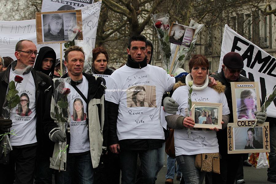 Marche blanche pour Laetitia Perrais disparue a Pornic. Photo by Laetitia Notarianni
