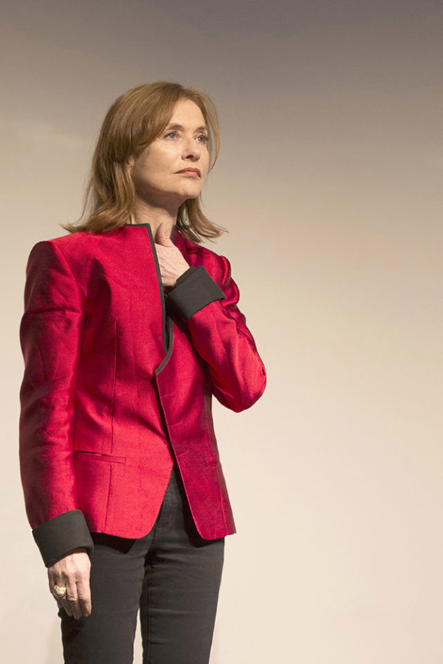 Isabelle Huppert. Photo by Laetitia Notarianni