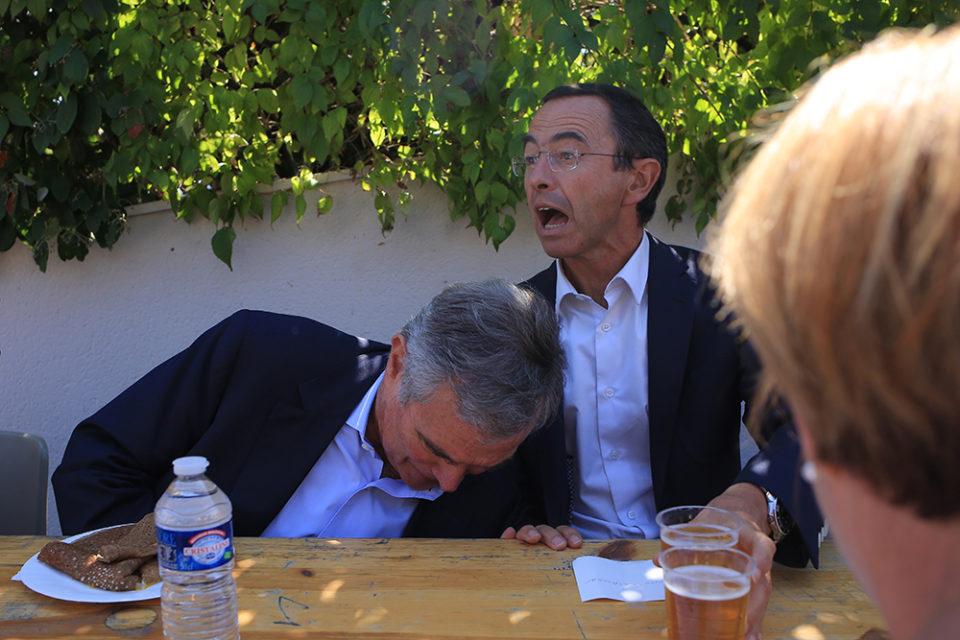 Bernard Accoyer et Bruno Retailleau lors des Journées d'été des Républicains 2017 à La Baule le 2 septembre 2017.